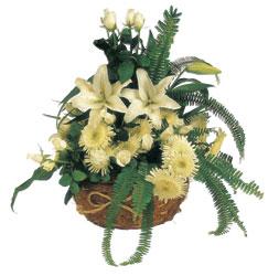 Ankara çiçek gönderme  sepet içerisinde karisik mevsimlik çiçek