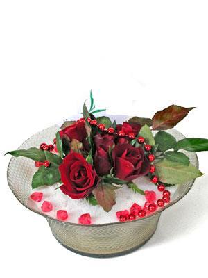 Ankara çiçek mağazası , çiçekçi adresleri  EN ÇOK Sevenlere 7 adet kirmizi gül mika yada cam tanzim