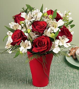 Ankara yurtiçi ve yurtdışı çiçek siparişi  6 adet kirmizi gül ve kir çiçekleri