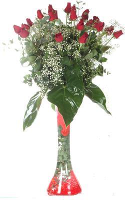 Ankara online çiçekçi , çiçek siparişi  19 ADET GÜL VE FIL CAM AYAGI