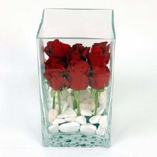 Ankara çiçek online çiçek siparişi  7 adet kirmizi gül cam yada mika vazo içinde