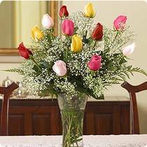 Ankara çiçek servisi , çiçekçi adresleri  renkli gül 11 adet çiçekçi den cam yada mika vazo tanzimi