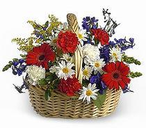 Ankara internetten çiçek siparişi  Karisik mevsim çiçek sepeti
