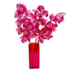 Ankara çiçek satışı  Cam yada mika vazo içerisinde 3 adet dal orkide