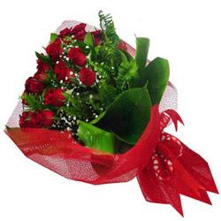 Ankara online çiçek gönderme sipariş  12 adet kirmizi essiz gül buketi - SEVENE ÖZEL