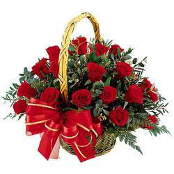Ankara çiçek mağazası , çiçekçi adresleri  11 adet kirmizi essiz gül sepeti - SEVENE ÖZEL