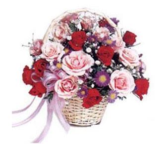 Ankara çiçek online çiçek siparişi  Karisik gül sepeti 13 adet gül güller