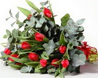 Ankara çiçek , çiçekçi , çiçekçilik  11 adet kirmizi gül buketi özel günler için