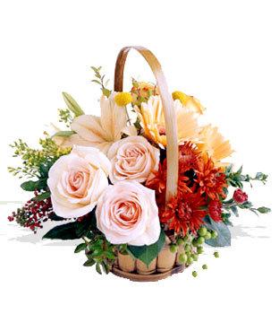 Ankara online çiçekçi , çiçek siparişi  Orta boy Karisik mevsim çiçeklerinden sepet