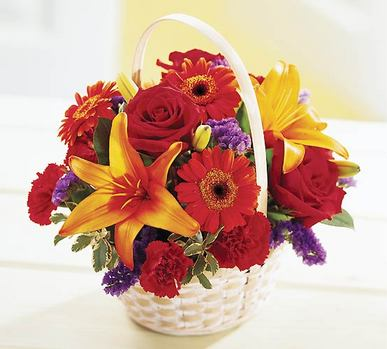Ankara çiçek online çiçek siparişi  Sepet içerisinde mevsim çiçekleri