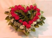 Ankara çiçek online çiçek siparişi  Kalp seklinde hazirlanmis gül tanzimi