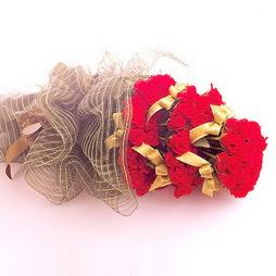 Ankara güvenli kaliteli hızlı çiçek  41 adet kirmizi gül buketi - essiz buket