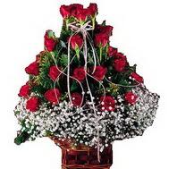 Ankara çiçek siparişi sitesi  12 gülden essiz sepet tanzimi