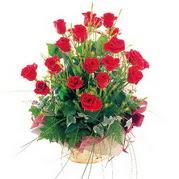 Ankara çiçek siparişi sitesi  12 adet kirmizi gülden sepet tanzimi