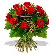 9 adet kirmizi gül ve kir çiçekleri  Ankara hediye sevgilime hediye çiçek