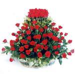 Ankara online çiçek gönderme sipariş  41 adet kirmizi gülden sepet tanzimi