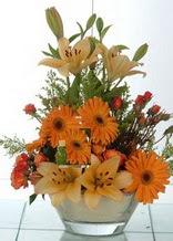 Ankara internetten çiçek siparişi  cam yada mika vazo içinde karisik mevsim çiçekleri