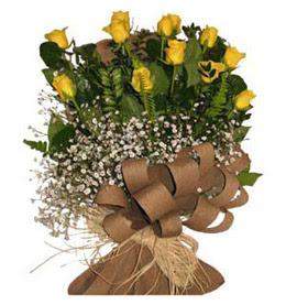 Ankara çiçek gönderme  9 adet sari gül buketi