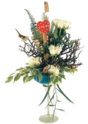Ankara İnternetten çiçek siparişi  kadeh içerisinde görsel gül tanzimi