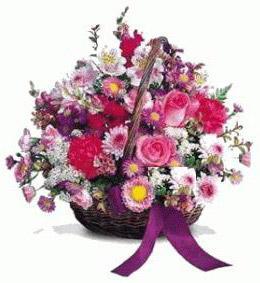 Ankara İnternetten çiçek siparişi  Karisik kir çiçeklerinden sepet tanzimi