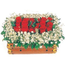 Ankara çiçek gönderme  11 adet kirmizi gül sepeti