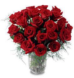 Ankara İnternetten çiçek siparişi  11 adet kirmizi gül cam yada mika vazo içerisinde