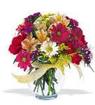 Ankara ucuz çiçek gönder  cam yada mika vazo içerisinde karisik kir çiçekleri