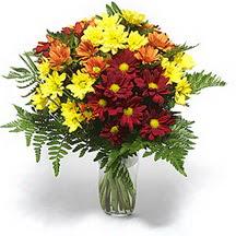 Ankara anneler günü çiçek yolla  Karisik çiçeklerden mevsim vazosu