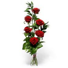 Ankara online çiçekçi , çiçek siparişi  mika yada cam vazoda 6 adet essiz gül