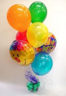 Ankarada çiçek gönderme sitemiz güvenlidir  17 adet uçan balon ve küçük kutuda çikolata