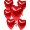 Ankara uluslararası çiçek gönderme  17 adet FOLYO kalp görünümünde uçan balon