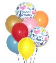 Ankara hediye çiçek yolla  17 adet karisik renkte uçan balonlar