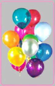Ankara kaliteli taze ve ucuz çiçekler  15 adet karisik renkte balonlar uçan balon