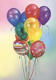 Ankara çiçekçiler  19 adet karisik renkte uçan balon buketi