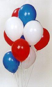 Ankara çiçek online çiçek siparişi  17 adet renkli karisik uçan balon buketi
