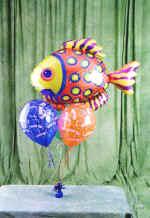 Ankara kaliteli taze ve ucuz çiçekler  9 adet uçan balon renkli oyuncak balonlar