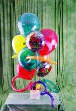 Ankara cicek , cicekci  karisik görüntüde renkli uçan balon buketi