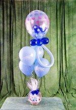 Ankara kaliteli taze ve ucuz çiçekler  15 adet uçan balon ve küçük kutuda çikolata