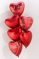 Ankarada çiçek gönderme sitemiz güvenlidir  6 adet kirmizi folyo kalp uçan balon buketi