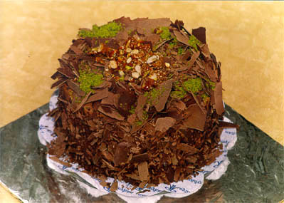 Çikolatali 4 ila 6 kisilik yas pasta  Ankara İnternetten çiçek siparişi
