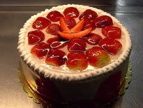 Meyvali yas pasta 4 ile 6 kisilik pasta  Ankara anneler günü çiçek yolla