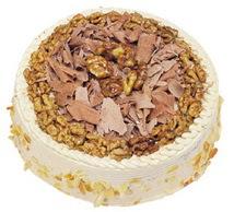 Karamelli 4 ile 6 kisilik yas pasta  Ankara çiçek gönderme