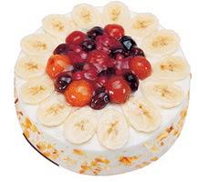 Meyvali 4 ile 6 kisilik yas pasta leziz  Ankara çiçek satışı