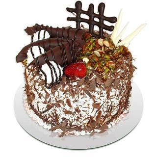 4 ile 6 kisilik çikolatali yas pasta  Ankara online çiçek gönderme sipariş