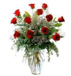 Vazo içerisinde 11 kirmizi gül  Ankara çiçek mağazası , çiçekçi adresleri