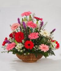 Sepet içerisinde karisik kokulu çiçekler  Ankara internetten çiçek siparişi
