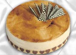 taze pasta 4 ile 6 kisilik yas pasta karamelli yaspasta  Ankara çiçek online çiçek siparişi