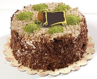 pasta gönderme 4 ile 6 kisilik çikolatali yas pasta  Ankara çiçek , çiçekçi , çiçekçilik