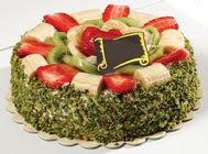 pasta gönder  4 ile 6 kisilik karisik meyvali yas pasta  Ankara çiçek servisi , çiçekçi adresleri