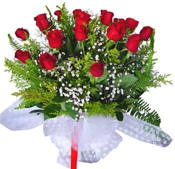11 adet gösterisli kirmizi gül buketi  Ankara hediye sevgilime hediye çiçek